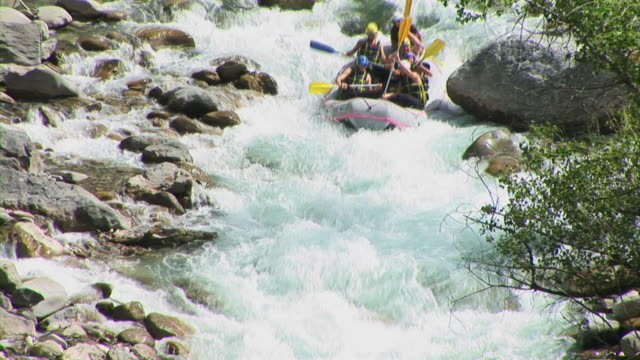 hd: rafting - inflatable raft stock videos and b-roll footage