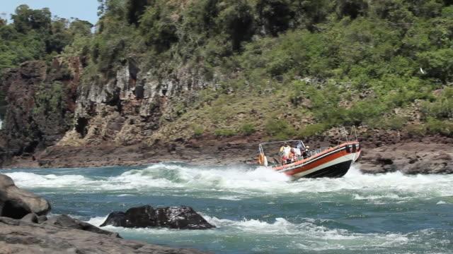 WS PAN Rafting with a boat at Cataratas do Iguacu / Foz do Iguacu, Parana, Brazil