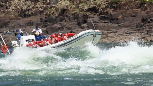 MS PAN Rafting with a boat at Cataratas do Iguacu / Foz do Iguacu, Parana, Brazil