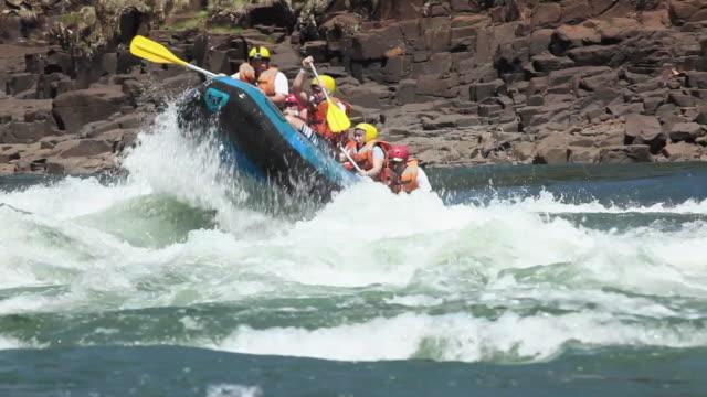 WS TS Rafting with a boat at Cataratas do Iguacu / Foz do Iguacu, Parana, Brazil