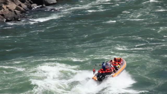 WS TS Rafting with rubber boat at Cataratas do Iguacu / Foz do Iguacu, Parana, Brazil