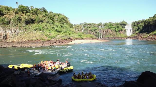 WS Rafting with rubber boats at Cataratas do Iguacu / Foz do Iguacu, Parana, Brazil