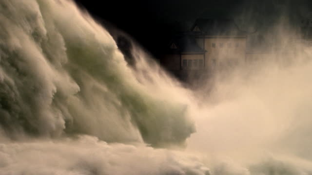 raging, cascading river waters, slow motion - flood stock videos & royalty-free footage