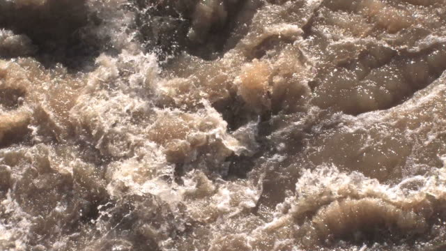 raging river in hd - brown stock videos & royalty-free footage