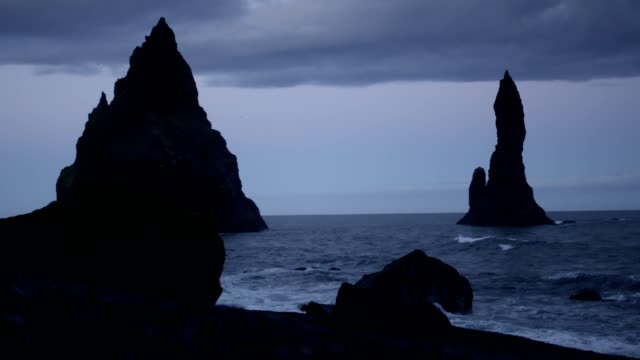raging sea. waves crushing on rocks. mist and sunrise - mystery stock videos & royalty-free footage