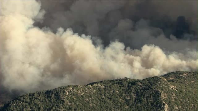 Raging Wildfire Burns 8000 Acres in Riverside County California on July 15 2013 in San Jacinto California
