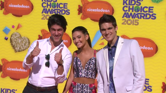rahart adams daniela nieves and nick merico at nickelodeon's 28th annual kids' choice awards at the forum on march 28 2015 in inglewood california - nickelodeon stock videos & royalty-free footage