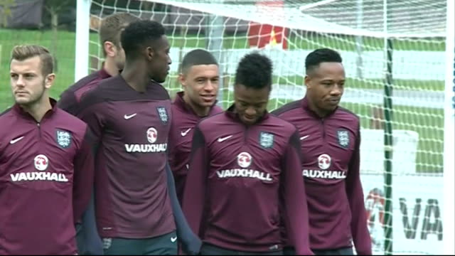 Raheem Sterling 'club vs country' row played down by Liverpool Manager 7102014 / R07101401 St George's Park EXT England team football training...