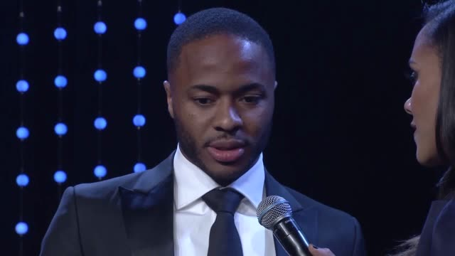 raheem sterling's strong stance against racism in football has been recognised at the bt sport industry awards. the manchester city and england... - clamp stock videos & royalty-free footage