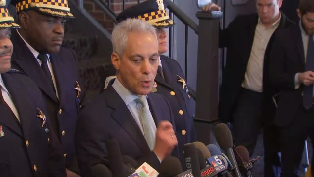 rahm emanuel, mayor of chicago, calls the exoneration of jussie smollett òwrong, full stopó at the leighton courthouse on march 26, 2019 in chicago,... - 白しっくい塗点の映像素材/bロール