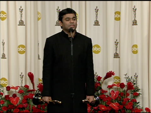 rahman at the 81st academy awards press room at los angeles ca. - academy awards stock videos & royalty-free footage