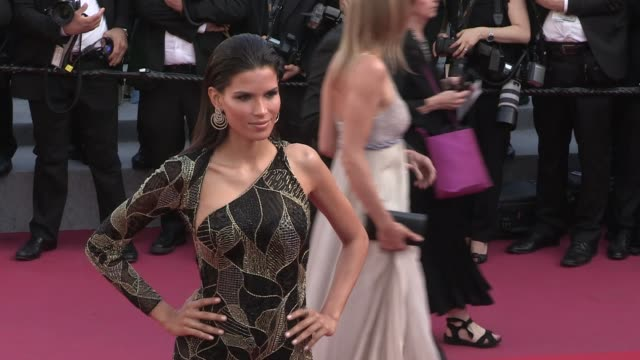 raica oliveira on the red carpet for the premiere of les filles du soleil at the cannes film festival 2018 saturday 12 may 2018 cannes france - 71st international cannes film festival stock videos & royalty-free footage