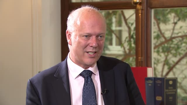 Chris Grayling orders inquiry into how rail industry is organised ENGLAND London INT Chris Grayling MP interview SOT report shows problem across the...