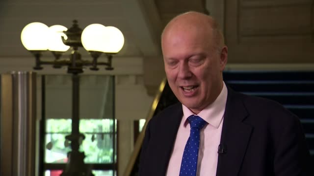 commuters furious over further fare increases; england: london: westminster: int chris grayling mp interview sot - fare video stock e b–roll