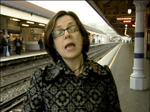rail fares set to rise above inflation levels; sarah boundy interview sot rail workers supervising lowering of new rail carriage onto railtracks int... - lowering stock videos & royalty-free footage