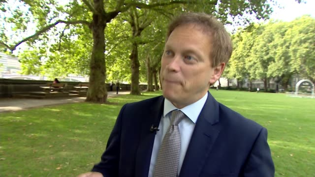 Government announces review of HS2 ENGLAND London Westminster Grant Shapps MP interview SOT