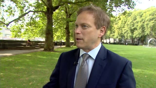 Government announces review of HS2 ENGLAND London Westminster EXT Grant Shapps MP interview SOT
