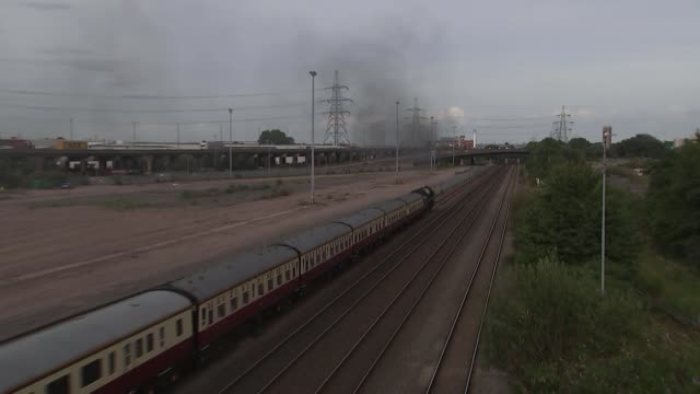 government announces review of hs2 england west midlands birmingham steam train away - rail transportation stock videos & royalty-free footage