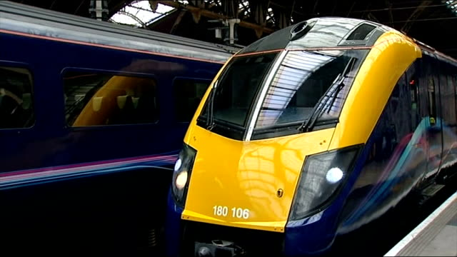 government withdraws west coast franchise tender; r15081207 / england: london: paddington station: int various shots of first great western trains in... - franchising stock videos & royalty-free footage