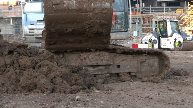 boris johnson gives go-ahead to high-speed rail line; england: birmingham: curzon street station site: ext wide shot hs2 terminal excavation site... - claw stock videos & royalty-free footage