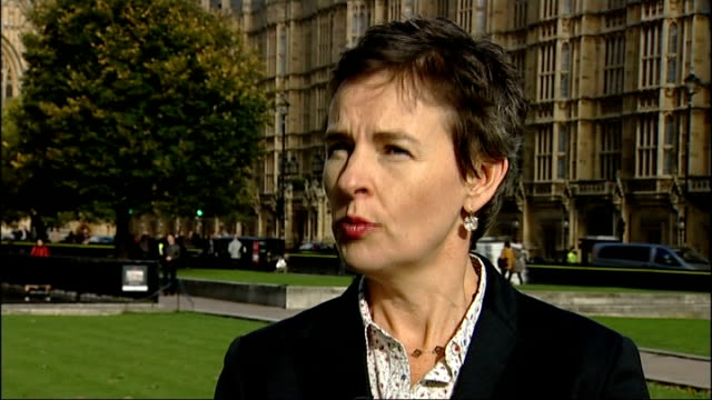 arguments continue about costs and benefits london westminster ext mary creagh mp interview sot no blank cheque for this or any other government... - kettenglied stock-videos und b-roll-filmmaterial