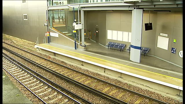 london overground shepherd's bush station closed due to safety concerns england london ext general views of new shepherd's bush station not yet open... - cent sign stock videos & royalty-free footage