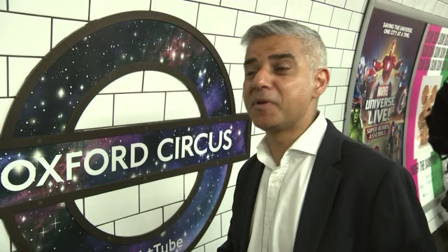 night tube launch sadiq khan interview sot i am really excited 153 years after the first tubes began in london we're going to have a night tube it'll... - itv london lunchtime news点の映像素材/bロール
