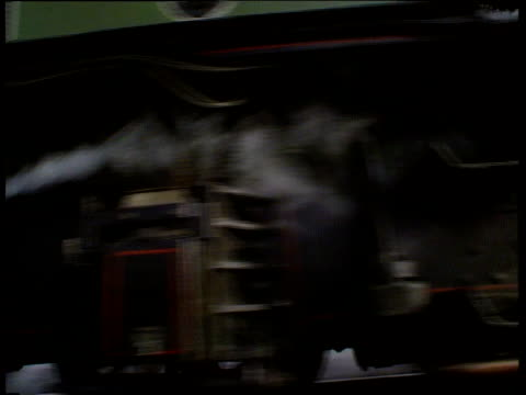 public given chance to drive 'the flying scotsman'; england: birmingham: birmingham railway museum: ext flying scotsman pull out from chimney as past... - locomotive stock videos & royalty-free footage