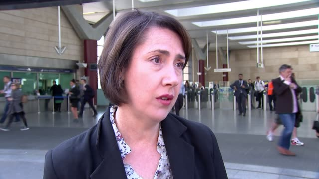 Second day of travel disruption after biggest train timetable change across Britain for decades ENGLAND London INT Emily Ketchin interview SOT...