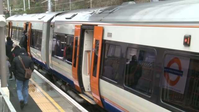 shortage of trains on barking to gospel oak london overground line uk london london overground trains along jon fox interview glenn wallis interview... - land vehicle stock videos & royalty-free footage