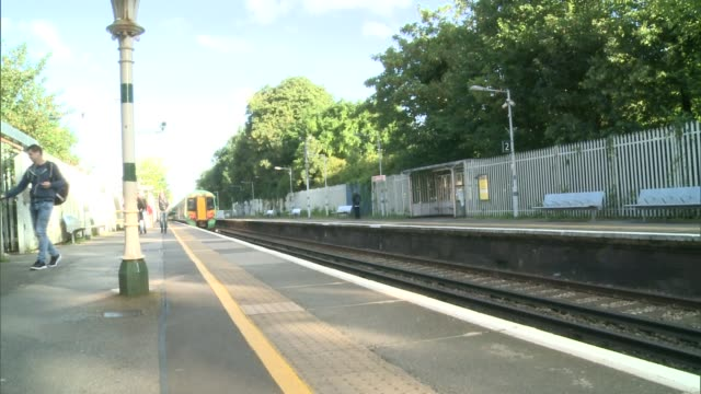southern train journey from gipsy hill to victoria stadium; england: london: gipsy hill: ext exterior of gipsy hill station / sign 'gipsy hill... - newspaper strike stock videos & royalty-free footage