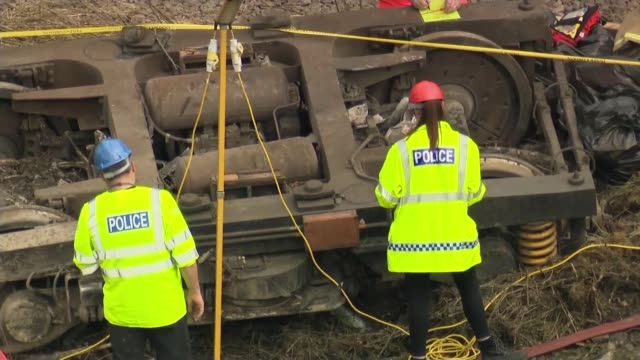 stonehaven train derailment grant shapps orders report into the whole uk rail network scotland aberdeenshire near stopnehaven ext carriages of the... - messy stock videos & royalty-free footage