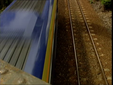 rail vandalism video released; itn gvs train along on line detective constable steve corke interviewed sot - line speed at this location mixed with... - vandalism stock videos & royalty-free footage