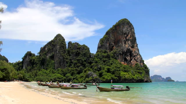 railay beach. - krabi province stock videos & royalty-free footage
