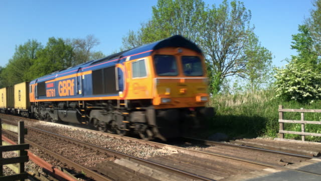 GB Railfreight container freight train.