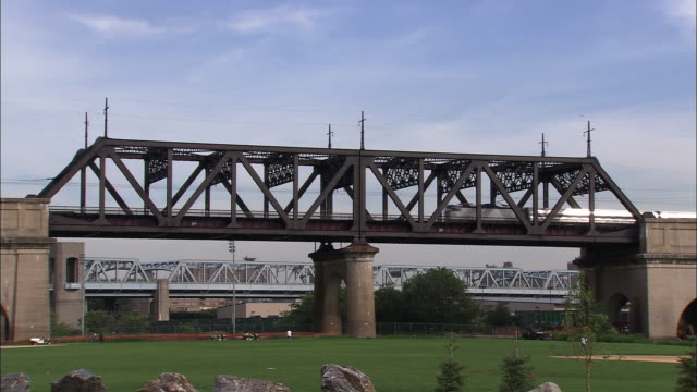 railroad bridge on randall's island - bronx stock videos and b-roll footage