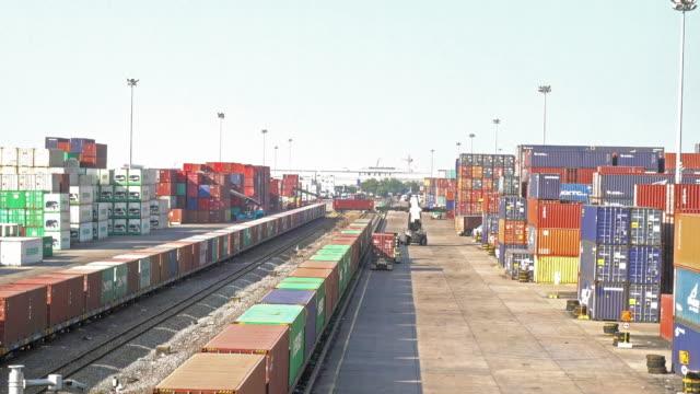 Spoorweg vrachtschip