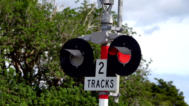 railroad crossing lights - sports training stock videos & royalty-free footage