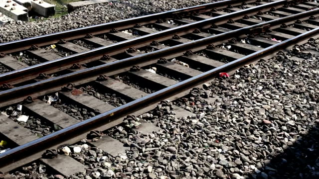 Railroad crossing track