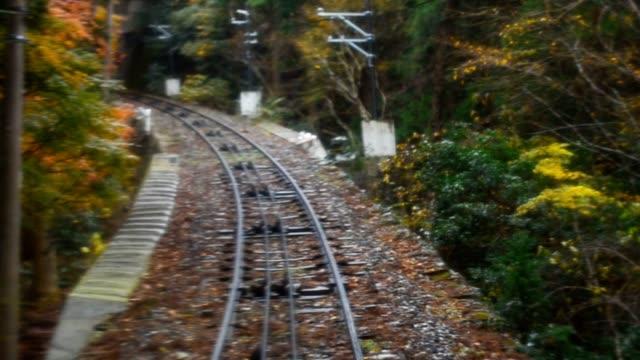 railroad in autumn - ånglok bildbanksvideor och videomaterial från bakom kulisserna