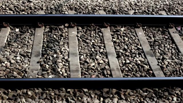 Railroad track background