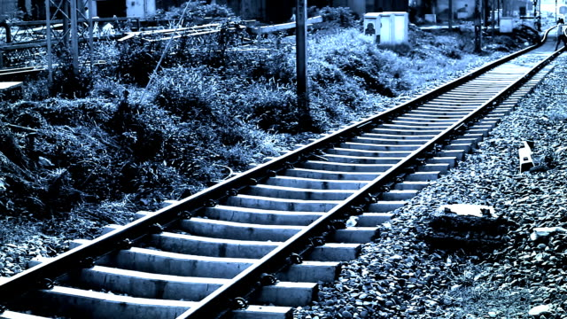 railroad track - railway track stock videos & royalty-free footage