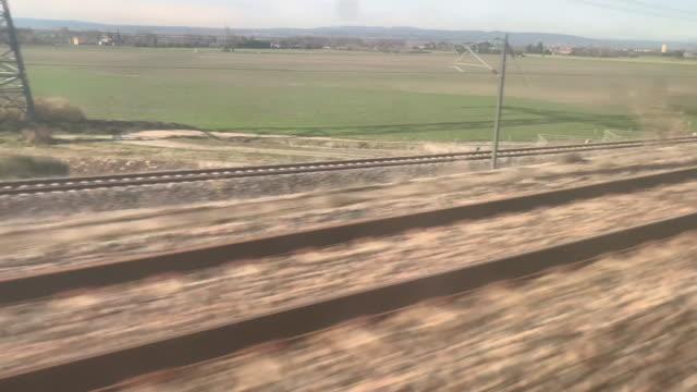 vidéos et rushes de tgv railroad track - railroad track