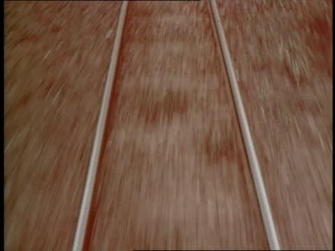 railroad tracks cut through thick bushes. - bush stock videos & royalty-free footage
