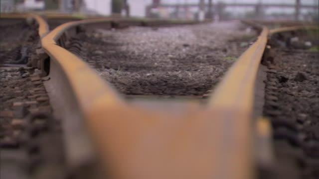 railroad tracks rust near a switch point. - bolt stock videos & royalty-free footage