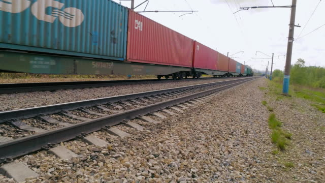 railroad tracks - cargo train stock videos & royalty-free footage