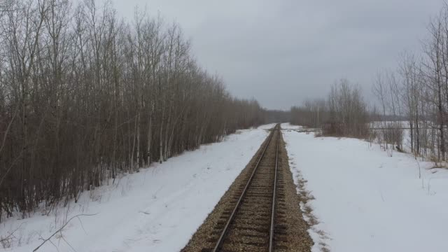 railroad tracks - snowing stock videos and b-roll footage