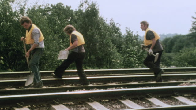 montage railroad worker safety / united kingdom - 1980 stock videos & royalty-free footage