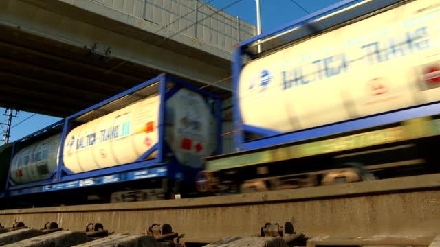 räls, vagnar, tåg och hjulet slå. - lok bildbanksvideor och videomaterial från bakom kulisserna