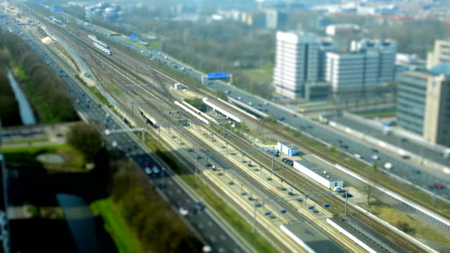 Railway and highway traffic in Amsterdam